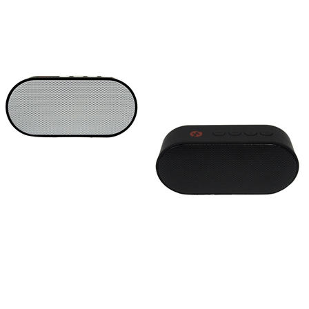 Combo Bocinas mini bluetooth con radio fm color blanco + color negro H-Tech BT04